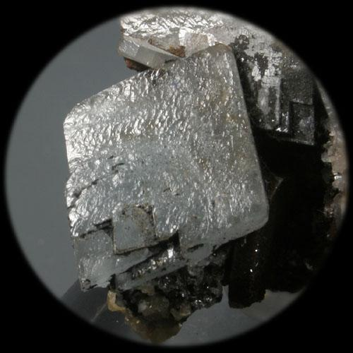 Barita (Baryte)  Detalle de la pieza anterior (Detail of the previous specimen) (Autor: supertxango)