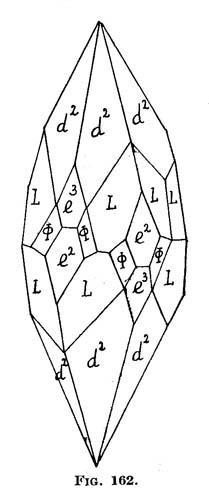 Calcite Rhisnes - Namur Prov., Belgium Drawing of the 2d Crystal (photo) (Author: Roger Warin)