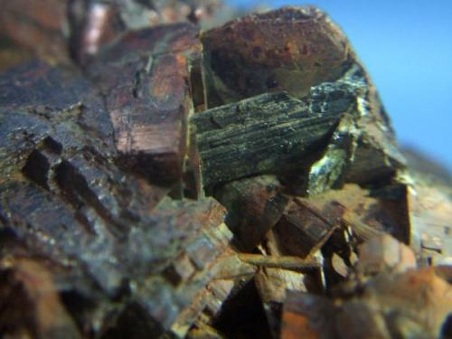 calcostibita mina el vagon lanteira Granada cristal de 1cm sobre siderita.jpg (Autor: Nieves)