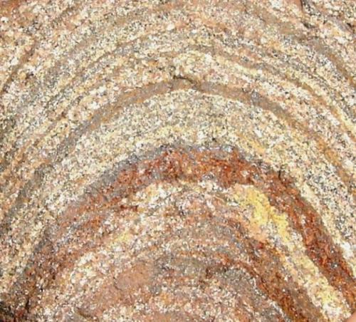 Banded iron formation (9 x 8 cm). Serrinha, Formiga, Minas Gerais. (Autor: Anisio Claudio)