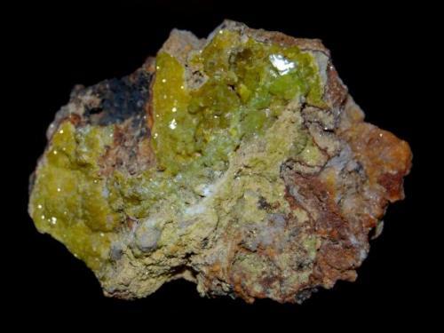 PIROMORFITA (Barstows Trench, Roughton Gill, Caldbeck Fells, Cumbria, Inglaterra) Tamaño: 6 x 4 cm (Autor: Marc C)