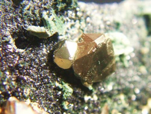 Pirita mina El Peñoncillo Marbella Málaga, cristales 8mm (Autor: Nieves)