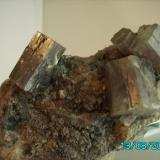Aragonito en matriz Minglanilla  Cuenca año1999 cristal más grande 3cms. (Autor: Gelo)