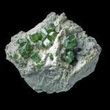 Granate Demantoide  14 x 10 cm Banjam Madagascar (Autor: Granate)