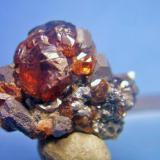 Blenda galena mina Los Arenales Mijas Málaga, pieza 2x2cm cristal mayor 1cm (Autor: Nieves)