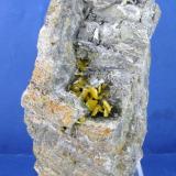Wulfenita Mina del Centenillo  - Albuñuelas - Granada - Andalucía - España 11 x 6.4 cm (Autor: Diego Navarro)