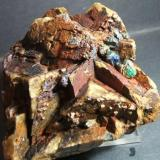 Bournonita mina el Vagón Lanteira Granada, pieza 12x10cm cristal 1cm (Autor: Nieves)