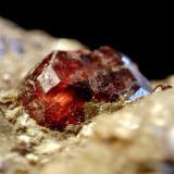 Granate, del mismo yacimiento del de Al Mar: Monte Galiñeiro(Pontevedra) (Autor: usoz)