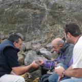 Andrés, José Bello y yo, y las zeolitas. (Autor: Pepe Ruano)