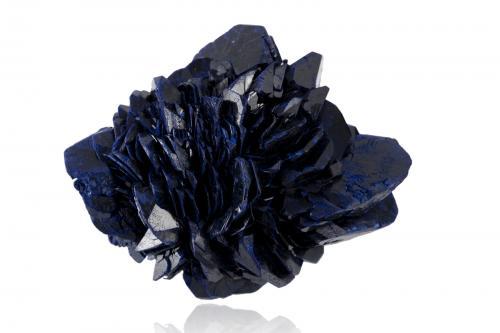 Azurite<br />Mina Boomerang, Monte Kelly, Distrito Gunpowder, Queensland, Australia<br />8,0x7,0x5,0cm<br /> (Author: MIM Museum)