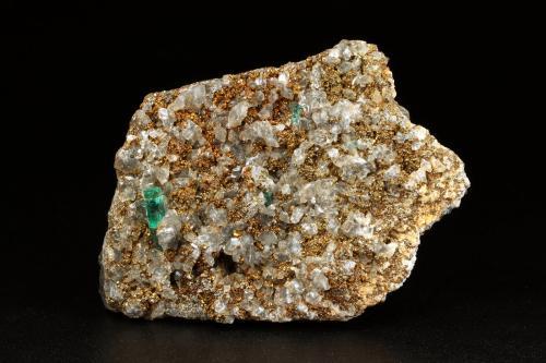 Beryl (Var. Emerald), Dolomite, Pyrite<br />Chivor mining district, Palo Arañado Mine, Municipio Chivor, Eastern Emerald Belt, Boyacá Department, Colombia<br />63x45x15mm, main xl=10mm<br /> (Author: Fiebre Verde)