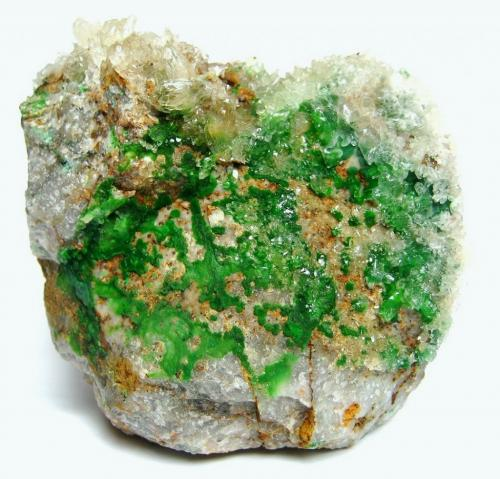 Conichalcite, Calcite<br />Gold Hill Mine, Gold Hill, Gold Hill District, Tooele County, Utah, USA<br />8 cm<br /> (Author: Tobi)