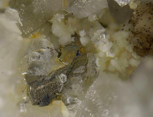 Arsenopirita<br />Mina Los Llanos, Santa Marta, Comarca Tierra de Barros, Badajoz, Extremadura, España<br />Campo de visión de 3 mm.<br /> (Autor: Antonio Carmona)