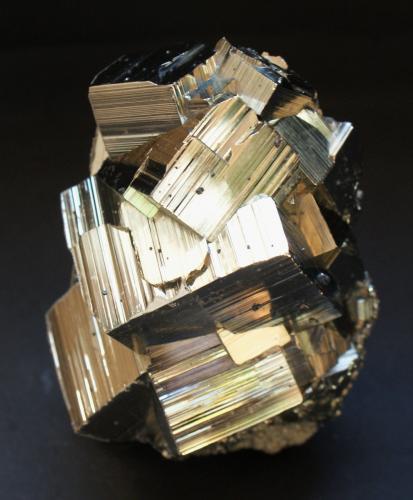 Pyrite<br />Huanzala Mine, Huallanca District, Dos de Mayo Province, Huánuco Department, Peru<br />100mm X 65mm x 50mm<br /> (Author: Philippe Durand)