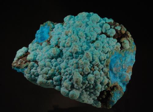 Crisocola<br />Mina L'Etoile du Congo (Mina Estrella del Congo), Lubumbashi (Elizabethville), Cinturón de cobre de Katanga, Katanga (Shaba), Congo RD (Zaire)<br />6x6 cm<br /> (Autor: Ricardo Fimia)