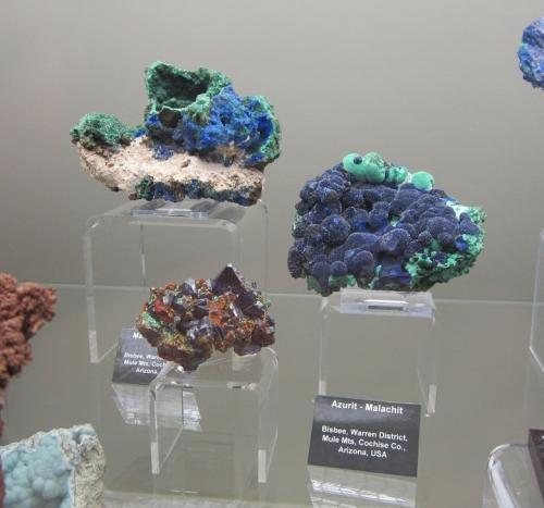 Azurite, malachite<br />Bisbee, Warren District, Mule Mountains, Cochise County, Arizona, USA<br />5 - 10 cm<br /> (Author: Tobi)