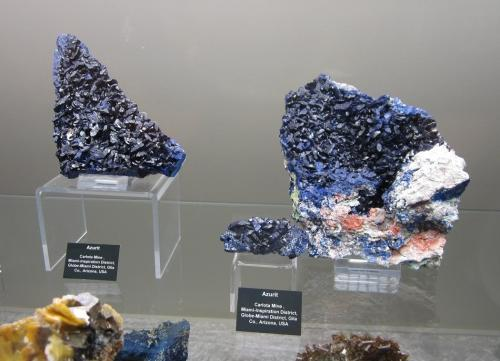 Azurite<br />Carlota Mine, Top of the World, Miami-Inspiration District (Globe-Miami District), Gila County, Arizona, USA<br />5 - 15 cm<br /> (Author: Tobi)