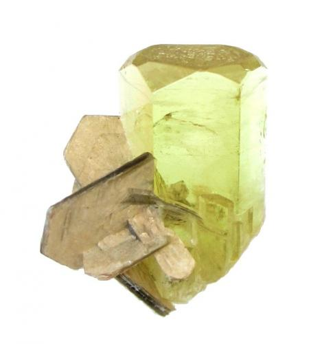 Beryl, Muscovite<br />Pakistan<br />Crystal height 2,5 cm<br /> (Author: Tobi)