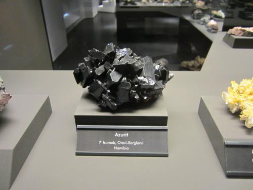 Azurite<br />Tsumeb Mine, Tsumeb, Otjikoto Region, Namibia<br /><br /> (Author: Tobi)