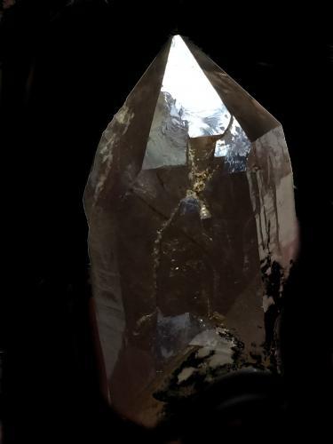 Cuarzo<br />Pedrera Mas Sever, Massabè (Mas Ceber), Sils, Comarca La Selva, Girona / Gerona, Catalunya, España<br />5x3cm<br /> (Autor: Obsi)