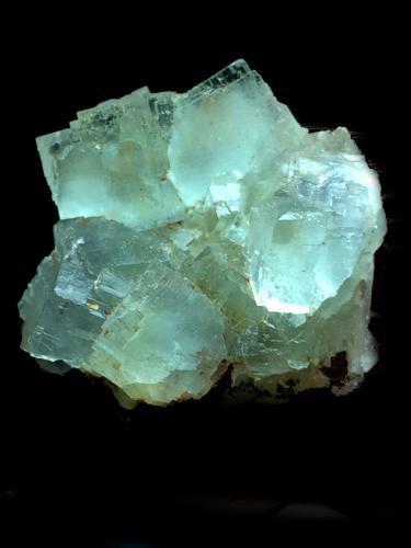 Fluorita<br />Corta La Sirena, Zona minera de La Collada, La Collada, Siero, Comarca Oviedo, Asturias, Principado de Asturias, España<br />4x4cm<br /> (Autor: Obsi)
