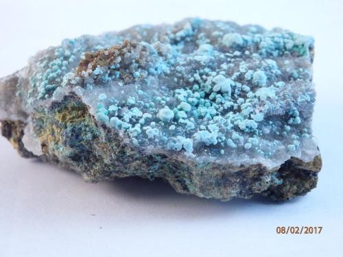 Auricalcita<br />Mines de Can Montsant, Can Montsant (Massís del Montnegre), Hortsavinyà, Tordera, Comarca Maresme, Barcelona, Catalunya, España<br />40x30 mm<br /> (Autor: juan martin)