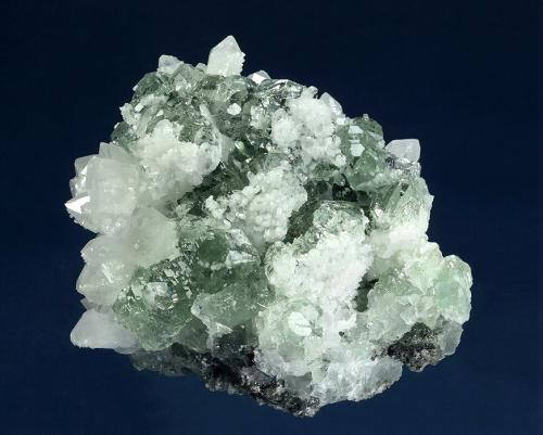 Fluorite with Quartz<br />Ruyuan Fluorite Mine, Ruyuan, Shaoguan Prefecture, Guangdong Province, China<br />97 x 87 x 67 mm<br /> (Author: GneissWare)