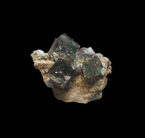 Fluorite<br />Weardale, North Pennines Orefield, County Durham, England, United Kingdom<br />7 cm x 5 cm x 6.3 cm<br /> (Author: Jamison Brizendine)