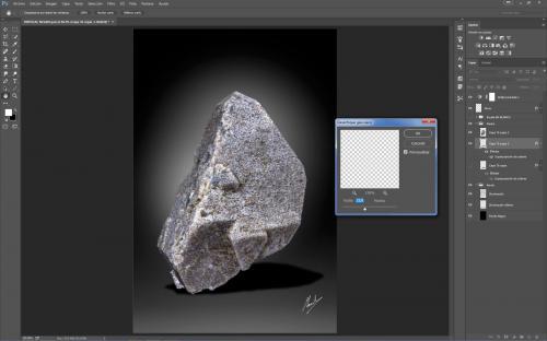 7.Le aplico un filtro de desenfoque gaussiano para darle un poco más de realismo a la sombra artificial (Autor: Manuel Mesa)