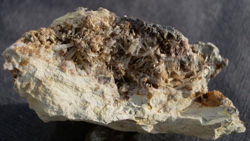 Cerussite<br />Barrow Mine, Braithwaite District, North Pennines Orefield, former Cumberland, Cumbria, England / United Kingdom<br />8cm<br /> (Author: colin robinson)