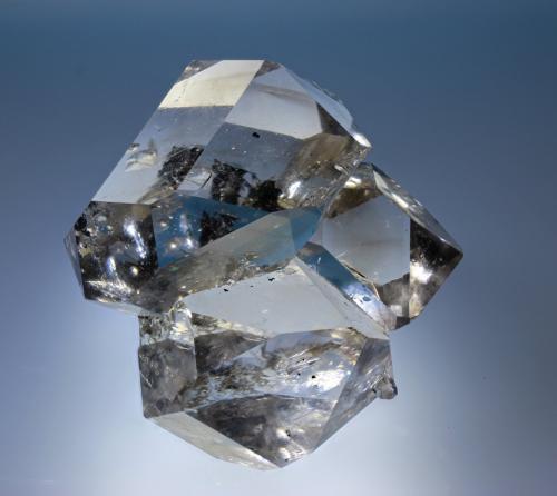 Cuarzo (variedad herkimer)<br />Condado Herkimer, New York, USA<br />cristal 50x45 mm<br /> (Autor: Ramon A  Lopez Garcia)
