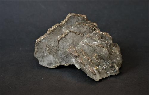 Barite and Marcasite<br />Bou Nahas Mine, Oumjrane mining area, Alnif, Tinghir Province, Drâa-Tafilalet Region, Morocco<br />100mm x 60mm x 50mm<br /> (Author: Philippe Durand)