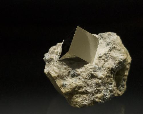 Pyrite<br />Ampliación a Victoria Mine, Navajún, Comarca Cervera, La Rioja, Spain<br />1 x 1 cm - Pyrite is 1 x 1 cm<br /> (Author: Richard Arseneau)