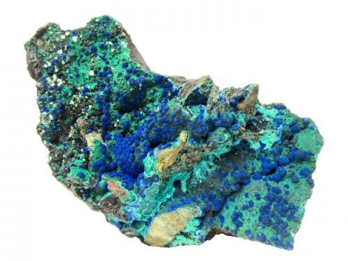Azurite, Malachite, Chrysocolla<br />Morenci Mine, Morenci, Copper Mountain District, Shannon Mountains, Greenlee County, Arizona, USA<br />Specimen size 19 cm<br /> (Author: Tobi)