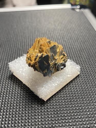 Rutile on Hematite<br />Novo Horizonte, Bahia, Northeast Region, Brazil<br /><br /> (Author: Shawn S)