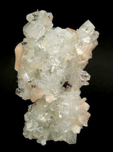 Apophyllite-(KF), stilbite, heulandite Pune, Jalgaon, Maharashtra, India 138 mm x 90 mm x 45 mm (Author: Carles Millan)