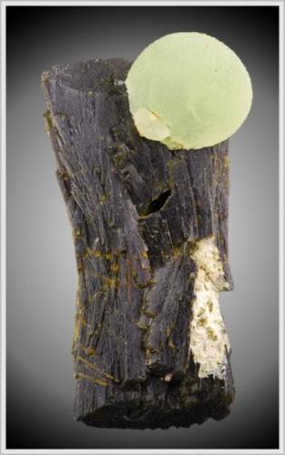 Prehnite on Epidote - Djouga Diggings - Region De Kayes - Mali - large miniature (7.5 x 3.2 x 2.2 cm) (Author: jaysminerals)