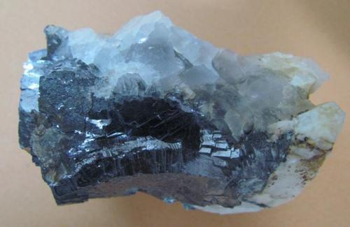 Galena, Fluorite Komshejeh Mine (Komshecheh Mine), Komshejeh (Komshecheh), Ardestan County, Esfahan Province (Isfahan Province; Aspadana Province), Iran 7 * 4 cm (Author: h.abbasi)
