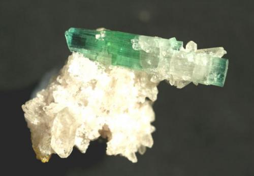 Elbaita policroma Afganistán 2.9 cm. el cristal biterminado de Elbaita (Autor: Carles Curto)
