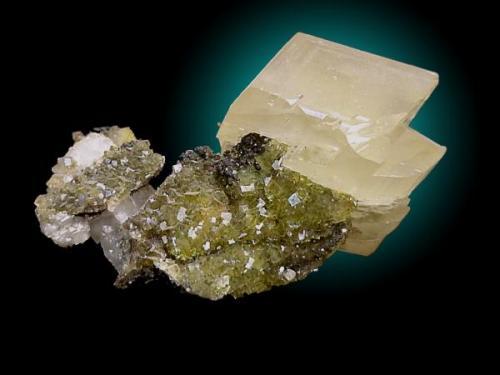 Calcita y fluorita Moscona10 x 6 cm (Autor: JRG)