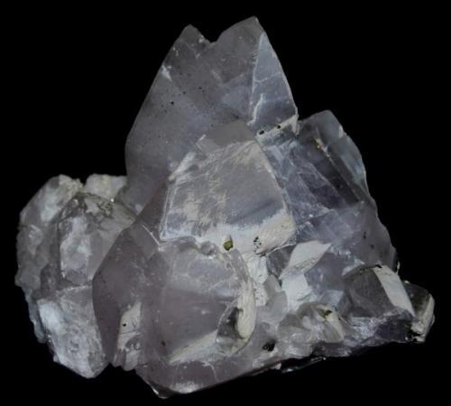 CALCITA (Cantera de l'Americano, Gualba, Barcelona)   Tamaño: 14 x 17 cm, el cristal más grande 7 cm (macla en mariposa) (Autor: Marc C)