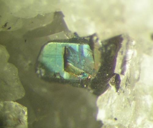 Otra pirargirita de 1 mm. Mina La Fuerza, Hiendelaencina, Guadalajara (Autor: Adrian Pesudo)