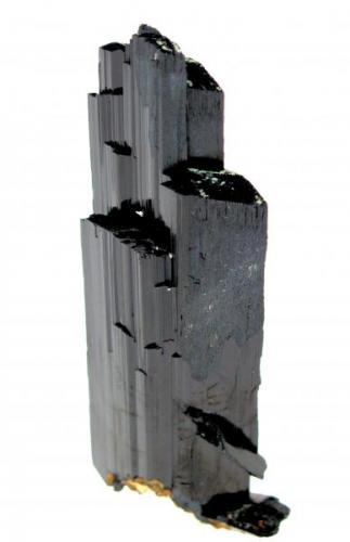 Arfvedsonite Mount Malosa, Zomba Plateau, Malawi 100 mm tall, 34 mm wide, 16 mm thick (Author: Carles Millan)