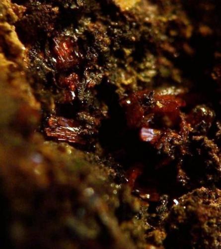 Grupo de cristales de Calderonita_ Santa Marta de los Barros-(Ba) (Autor: luisfrancisco)