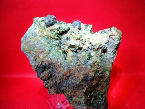 magnetita sobre epidota, mina isabelita -burguillos del cerro (Autor: jose manuel gomez)