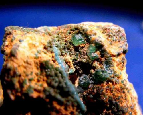 Variscita<br />Palazuelo de las Cuevas, San Vicente de la Cabeza, Comarca Aliste, Zamora, Castilla y León, España<br />Cristales de 2 mm.<br /> (Autor: Calita)