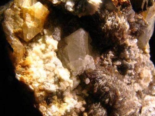 Scheelita<br />Mina Alegría, Morille, Comarca Campo de Salamanca, Salamanca, Castilla y León, España<br />Cristal de 1,5 cm.<br /> (Autor: Calita)