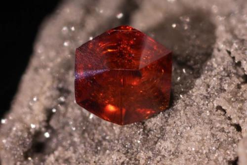 1.3-mm sphalerite. Bluffton Stone Co. quarry, Bluffton, Allen Co., Ohio. (Author: John Jaszczak)
