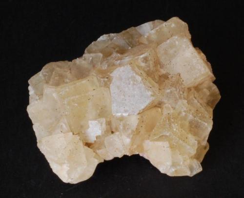 Fluorita - Mines Sant Marçal, Viladrau, Montseny, Osona, Girona, Catalunya, España Medidas. 5x4,5x2,5 cms (Autor: Joan Martinez Bruguera)