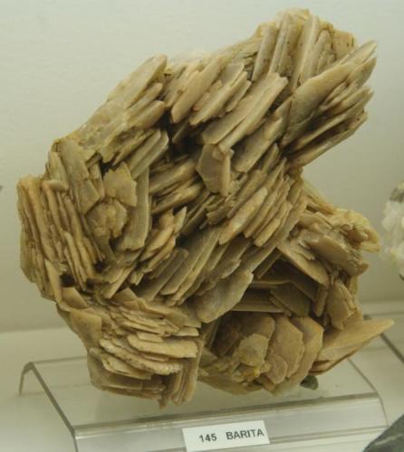 Baritina (Coll Formic) Montseny (Barcelona) pieza de 120 x 110 mm (Autor: Jesus Franquesa Baucells)